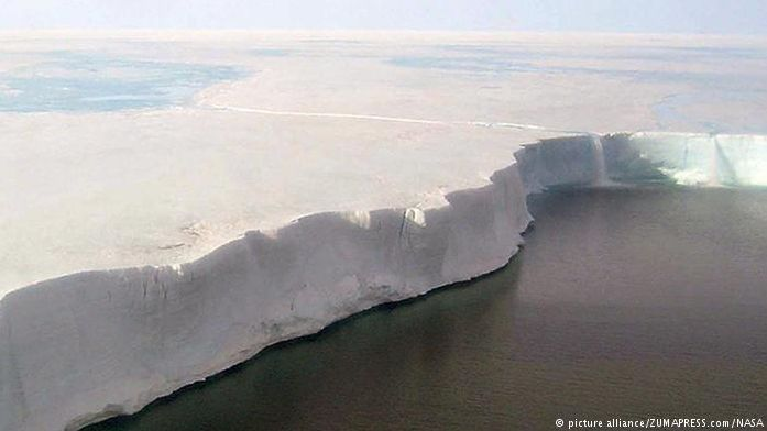 Human activity and the concept of global warming are a reality. We posted about the Larsen C ice-shelf hanging on by just a few kilometres last month. And it has now broken off and is floating. This an area the size of Wales. Global sea levels are now a very real concern as Antarctica  is rising.  Credit to NASA for the photograph.
