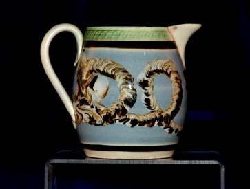 Small mocha pitcher, circa 1820