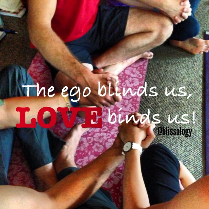 The ego blinds us, LOVE binds us. - Eoin Finn #quote #eoinism