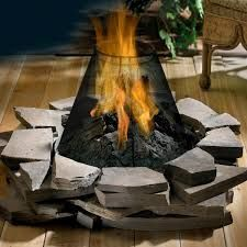 Image result for stone patio fire pit