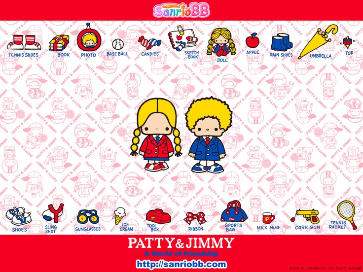 Patty & Jimmy (Sanrio) Wallpaper