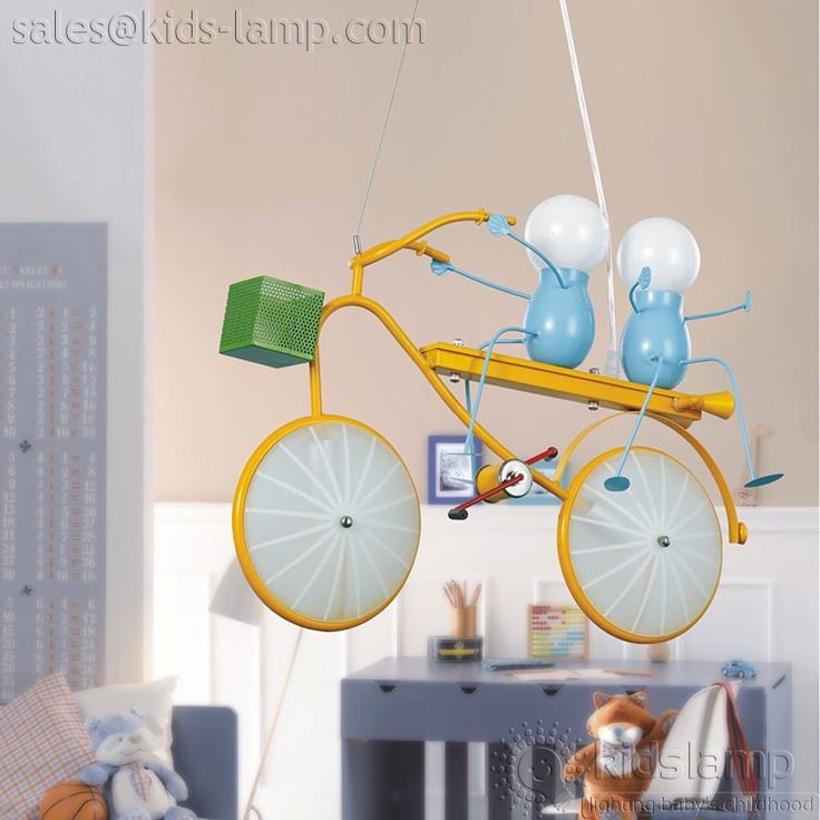 Kids Rooms Two Childs Bike Hanging Lamps