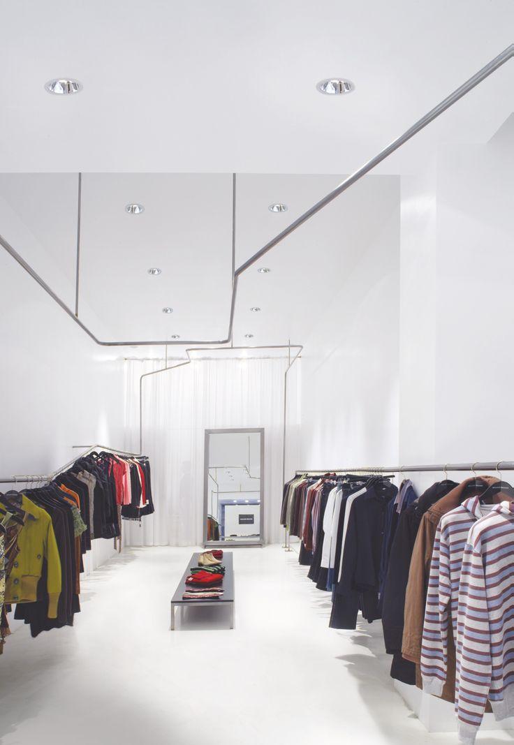 Bruuns Bazaar, Madrid, Spain,  Architectural Project: Murado & Elvira Architecture and Design,  Photo: Miguel de Guzmán #Reflex #iGuzzini #Lighting #Light #Luce #Lumière #Licht #GeneralLighting #Downlight #Led #Comfort