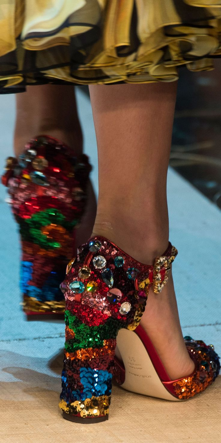 Dolce and Gabbana SS 2017 RTW | **GLITTER SHOES ...