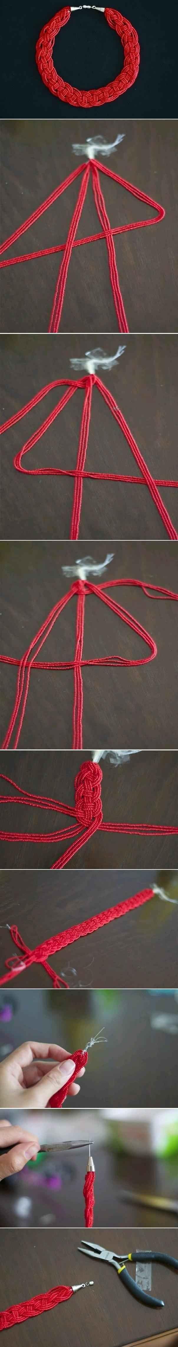 Four Strand Braid | 24 Super Easy DIY Bracelets