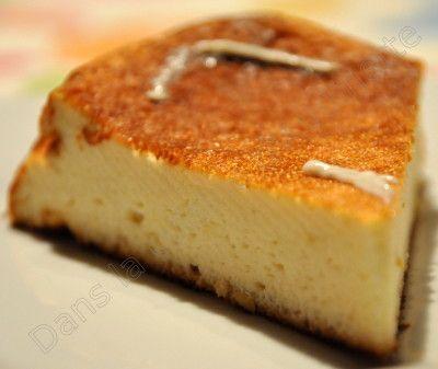 gateau au fromage blanc, compatible Dukan.
