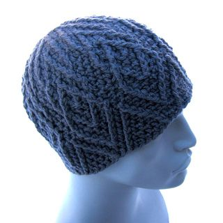Stacked Large Diamond Beanie | crochet hat pattern by Aaron Matthew Asmussen