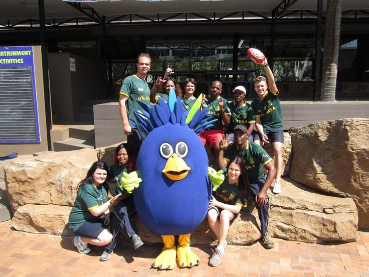 Our Magalies Park team and Fred First getting into the spirit of the Rugby World Cup!