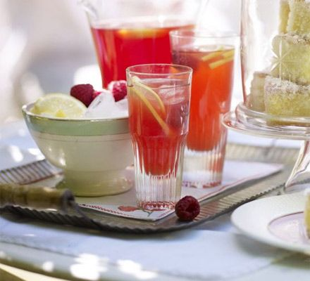 Homemade pink lemonade. Mix up a jug of this refreshing, still, cloudy lemonade made from zingy lemons and plump raspberries.