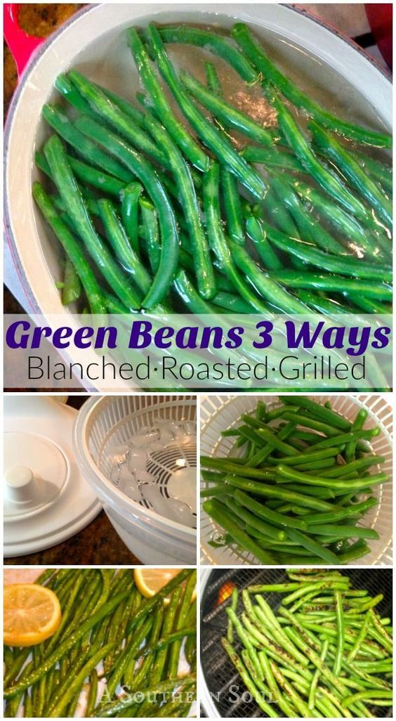Easy step by step instruction for blanching green beans with 2 delicious recipes. Fill your freezer with one of summer's best veggies!