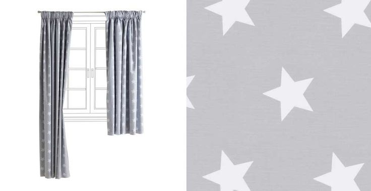 Children's Blackout Curtains - Grey Star | GLTC