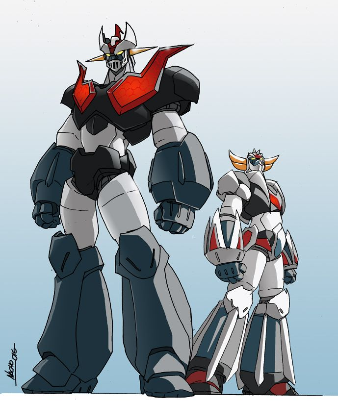 Another reminding From Mazinger Z series. The most known of the enemys of Mazinger. Garada K-7 and Doublas M-2