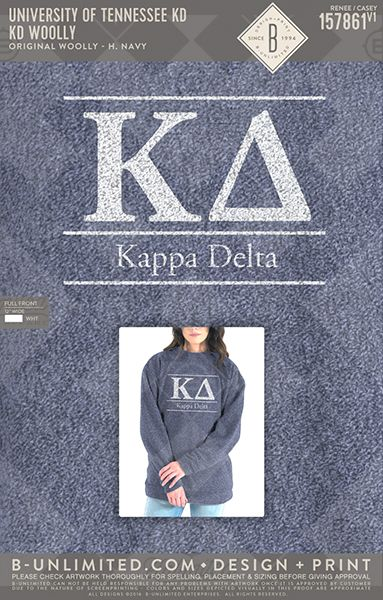 Now that's a good lookin' Woolly! University of Tennessee- Kappa Delta #BUonYOU #greek #greektshirts #greekshirts #sorority #KappaDelta #KD #PRshirts #Woolly