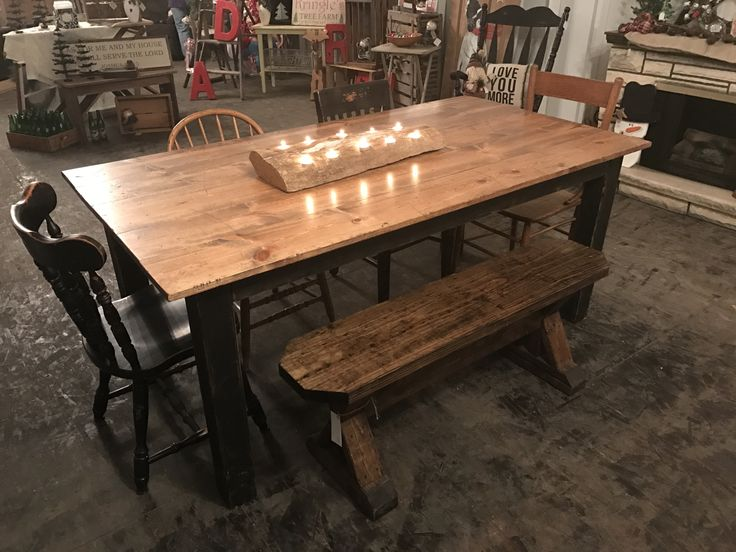 Classic Primitive table. Just $225!  Farmhouse. Harvest table. Farm table. Hand built.