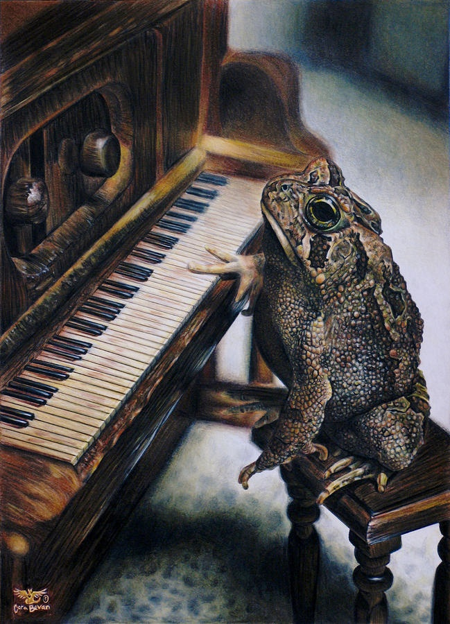 Note to self:  Never kiss the frog unless you know for certain he can play the piano.