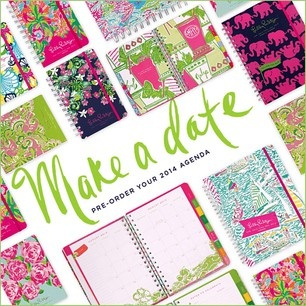 Our new agendas are now available for pre-order.  See all of the new sizes/prints here: http://www.lillypulitzer.com/category/Accessories-Shoes/Agendas/pc/61/219.uts