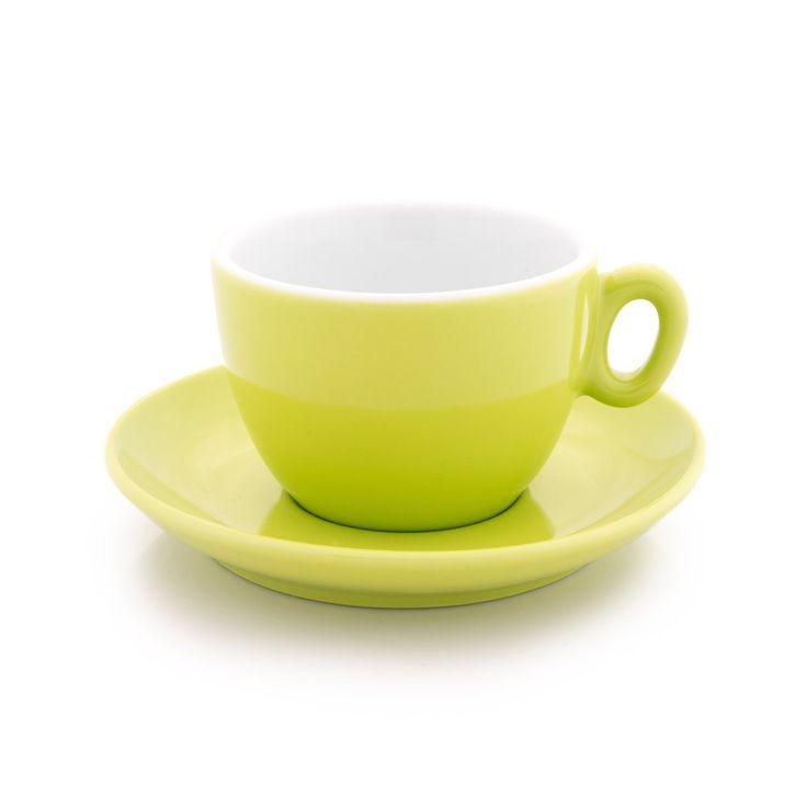 Inker green cappuccino cup 6 oz demitasse