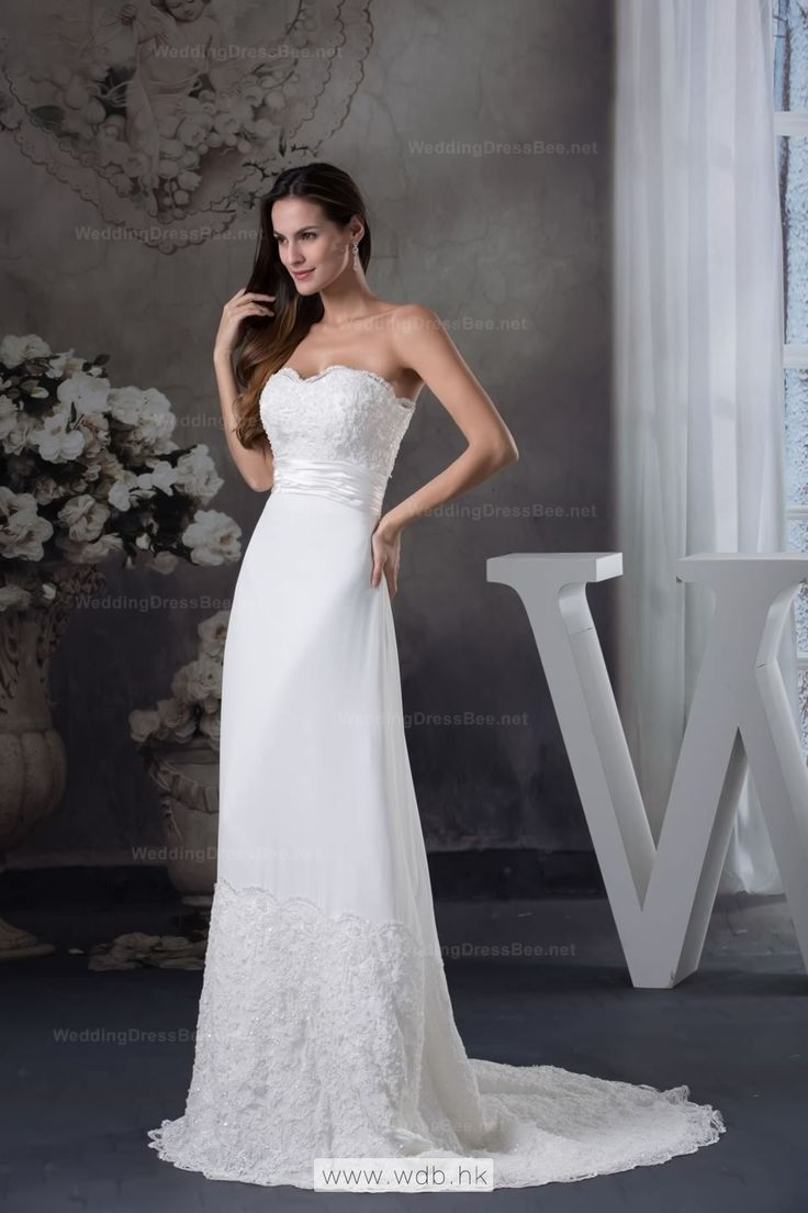 Princess sweetheart lace detailed floor length a-line wedding dress  $261.98