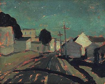 A Y Jackson-Moonlight Sainte Anne de Beaupre 1925