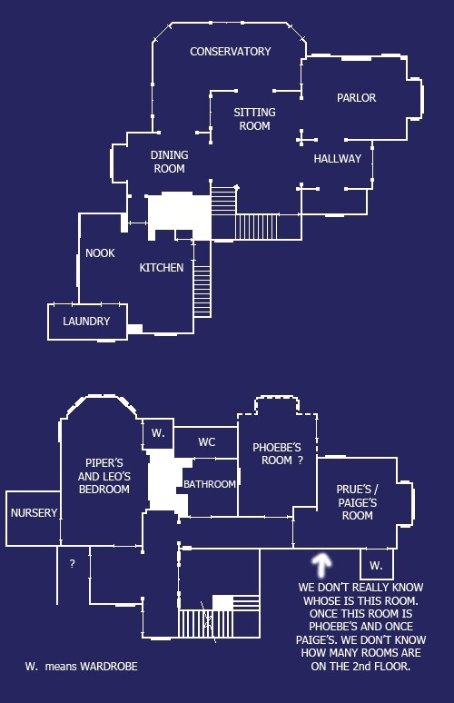 Charmed House Blue Prints House Blueprints Floor Plans