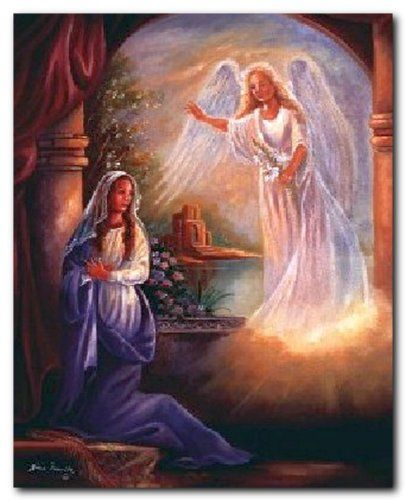 Mother Mary With Angel Femrite Religious Catholic Wall Picture Art Print (8x10) Impact Posters Gallery