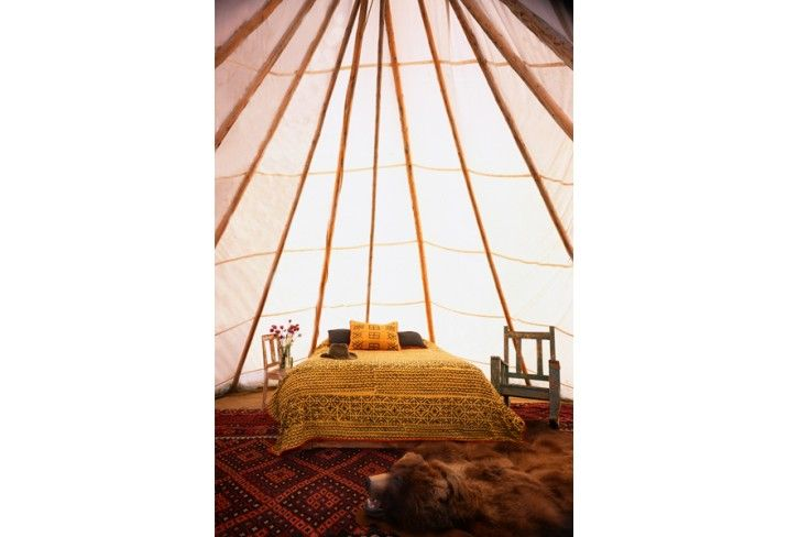 Dunton Hot Springs, an amazing place to stay in Colorado, has luxury teepees as well as cabins and lodges.