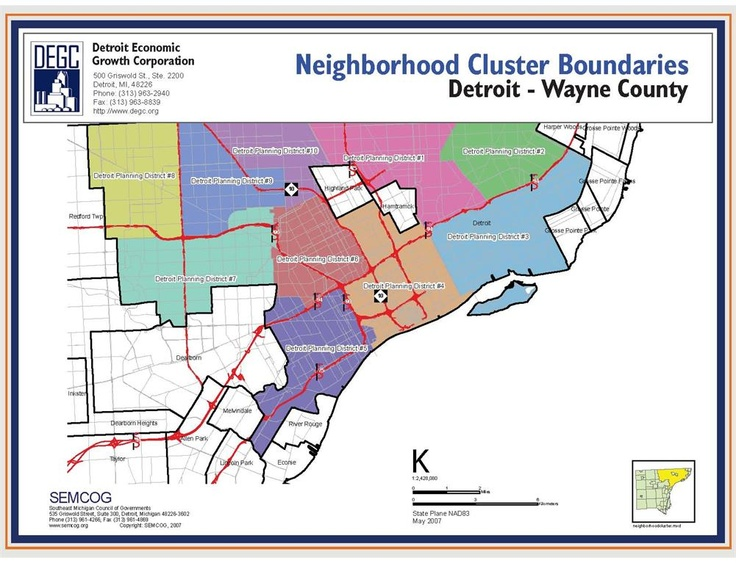 Detroit Neighborhood Cluster Boundaries citySCAPE 2
