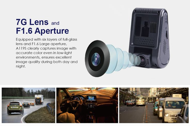 VIOFO A119S 2 Inch Car Dashcam 6G F1.8 Lens Video 135 Degree Camera DVR With GPS Function