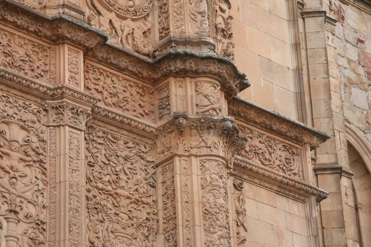 salamanca Spain - Salamanca University, legend is you have to find the frog on this facade to get luck. Salamanca is the oldest university in Spain.