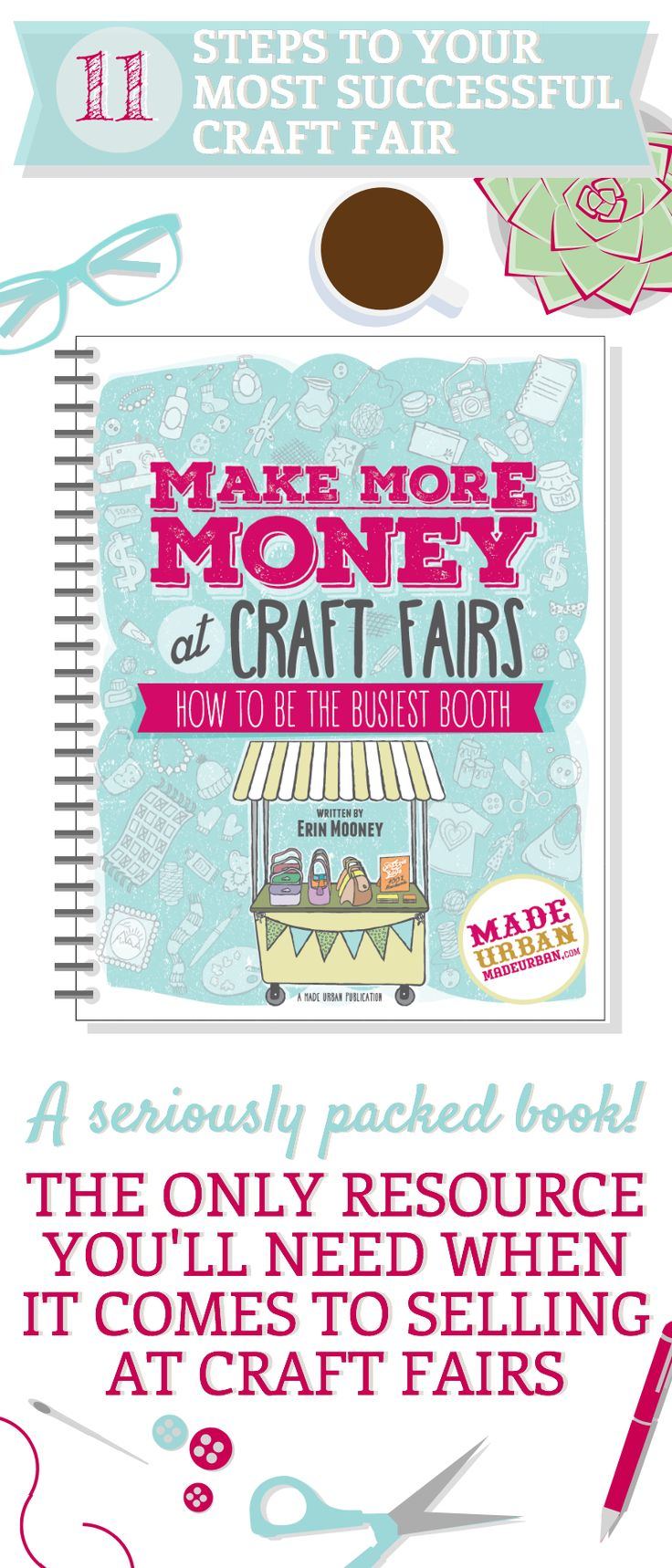 MAKE MORE MONEY AT CRAFT FAIRS - How to Be the Busiest Booth. Packed full of info on getting ready to sell your handmade products at craft shows, selecting the right ones, ensuring you're accepted, creating a powerful display, selling techniques for introverts and reaching your financial goals.