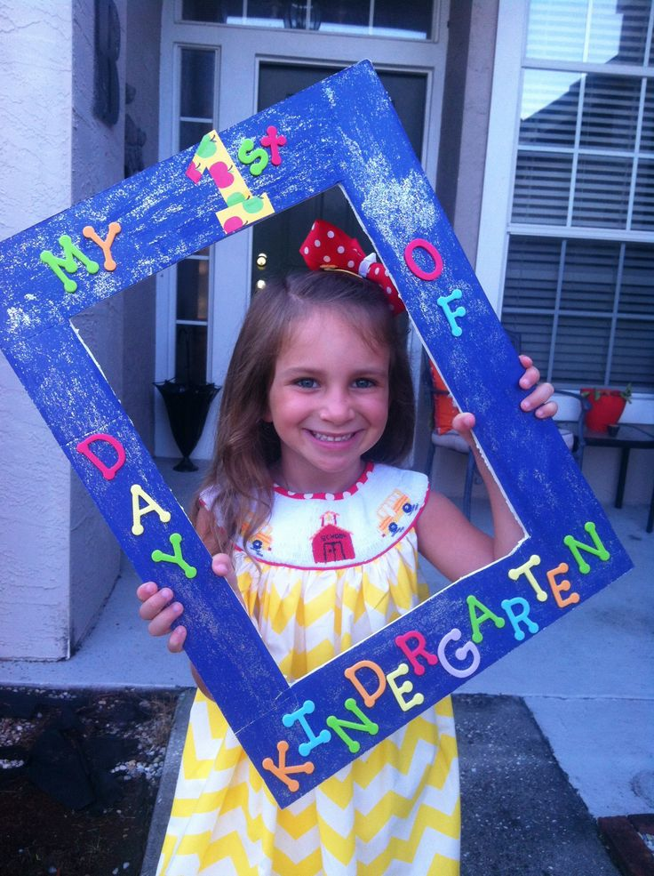 First day of kindergarten sign idea