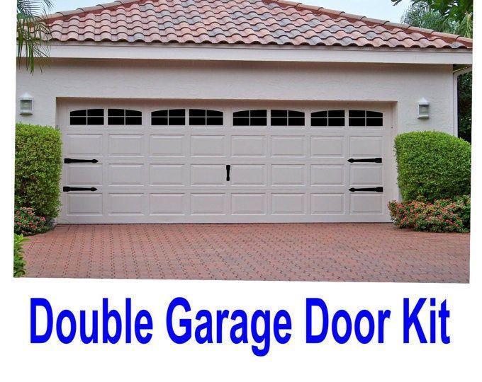 Craftsman Style Faux Garage Door Windows Vinyl Decals No Etsy In 2020 Garage Doors Vinyl Garage Doors Garage Door Styles