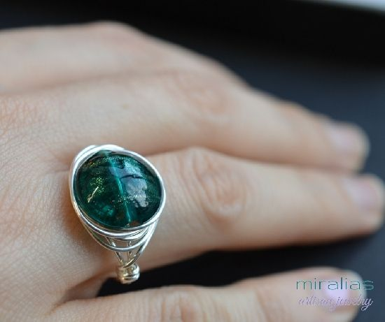 wire wrapped jewelry by Miralias