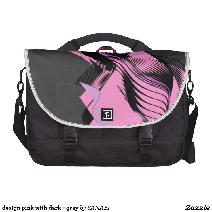 design pink with dark - gray computer bag