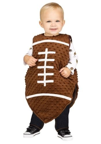 Turn your baby into a cute little football with this Football Tunic Baby Costume. Of course your baby can't grasp the oddly shaped ball so make them become the football instead lol Soft bubble-fleece outer shell and fiberfill stuffing between shell & lining for plump look. Receive 20% off your first order. Check it out here!!