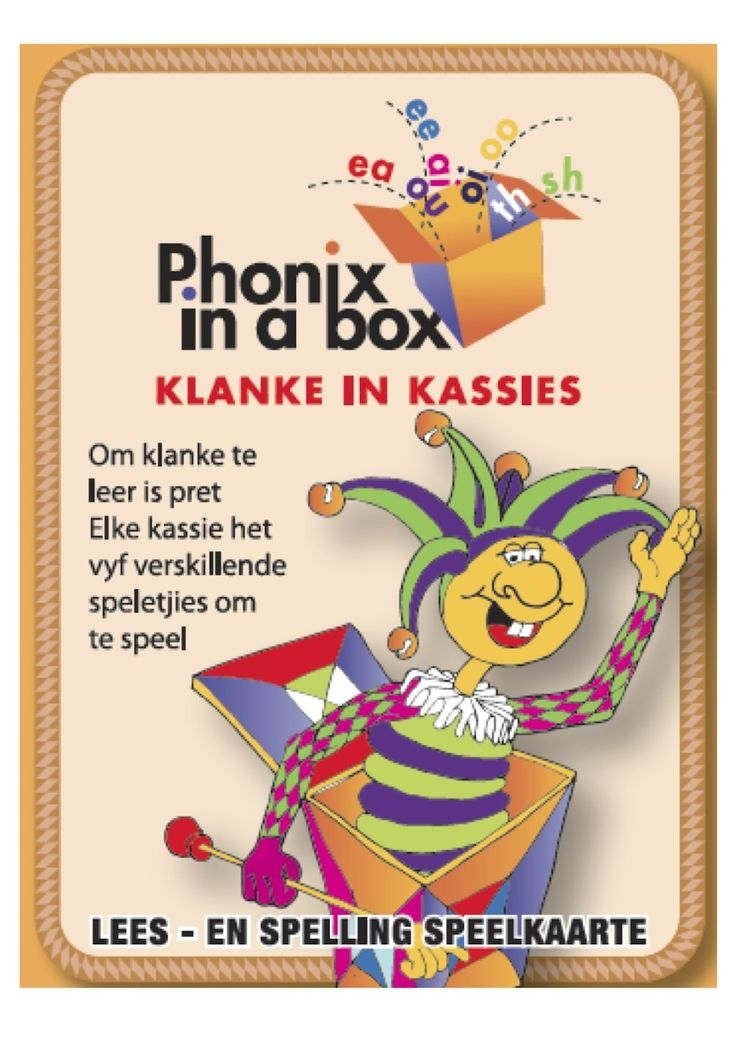 Learning sounds is fun! Teach your child the Afrikaans phonic sounds while playing fun card games together.