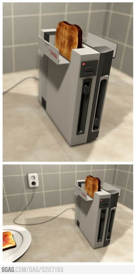 The PoP!ulation has its Sexy Toaster, so why not check out this sexy toaster, made out of an old-school NES!  Don't forget to blow!