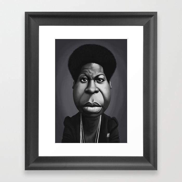 Nina Simone art   decor   wall art   inspiration   caricature   home decor   idea   humor   gifts