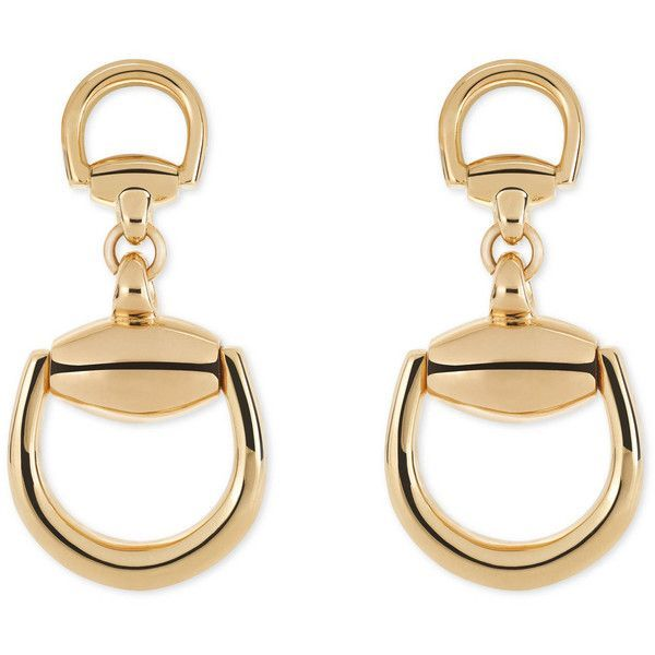 Gucci Horsebit Earrings found on Polyvore featuring jewelry, earrings, accessories, fine jewellery, women, gucci, fine jewelry, chains jewelry and gucci jewelry