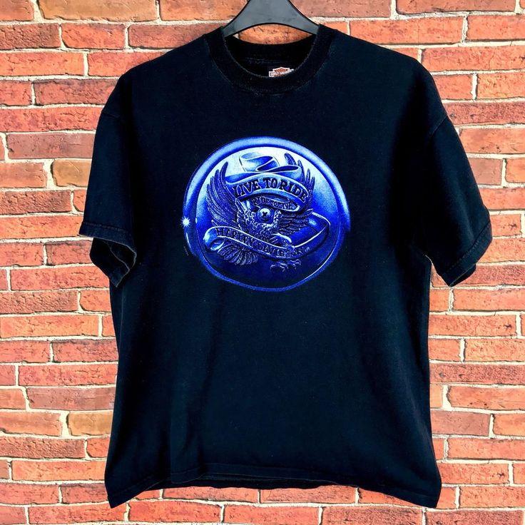 Harley Davidson T Shirt live to ride ride to live Foundry Canterbury England