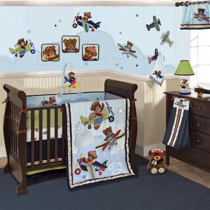Airplane Boy Crib Bedding Planes With Bears Are Flying