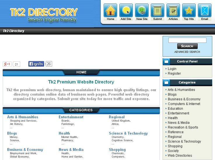 Tk2 Premium Website Directory http://www.tk2.org/