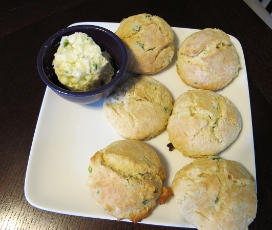 Cheddar Scallion Scones with Jalapeno Agave Butter - http ...