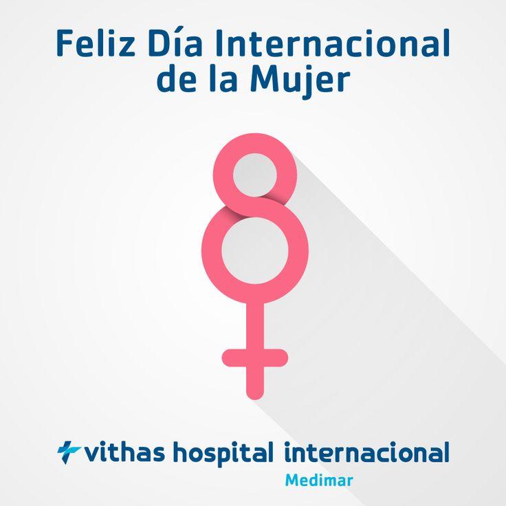 Para vosotras todos los días deberían de ser #8deMarzo. Hospital Medimar os desea a todas las mujeres un feliz #DíaInternacionaldelaMujer.