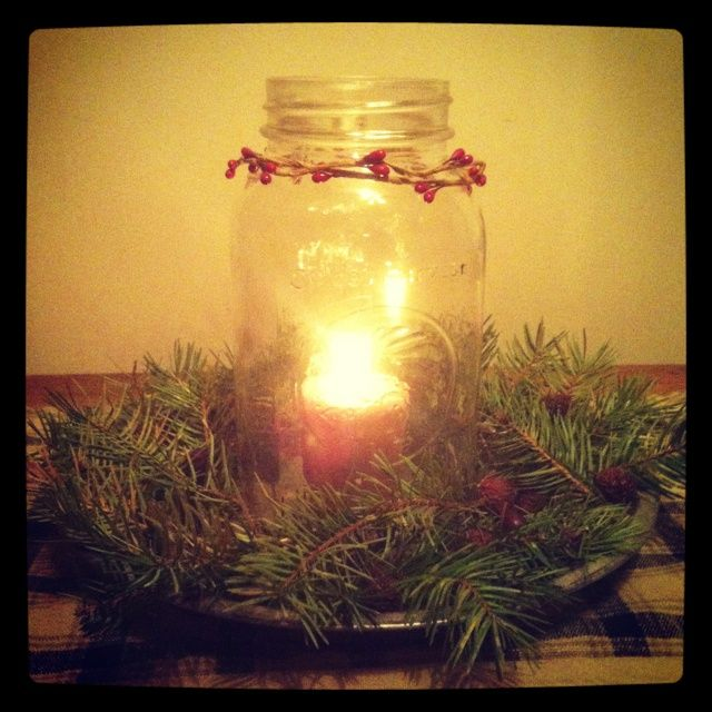 country christmas decorations | Country decor, centerpiece