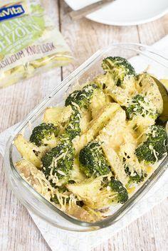Snelle ovenschotel met broccoli, gehakt en aardappeltjes   via BrendaKookt.nl