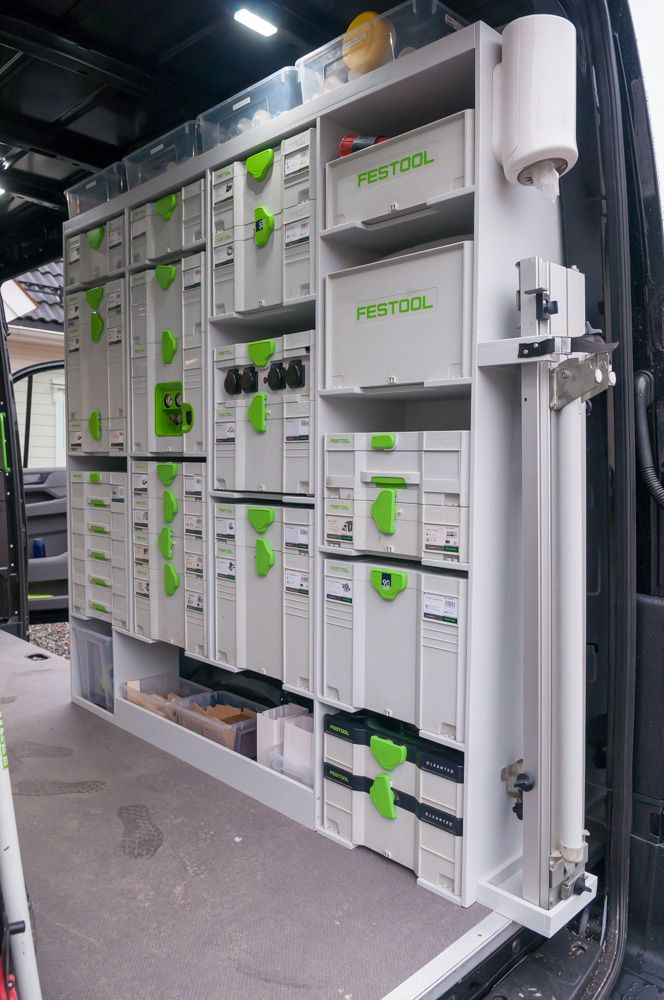 Panasonic Festool Van Racking system for T-Loc Systainer Sys 1-5 /& suits Fein