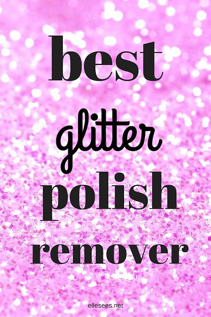 The BEST Way to Remove Glitter Polish (And It's Not What You Think)--Was REALLY surprised by this--actually worked