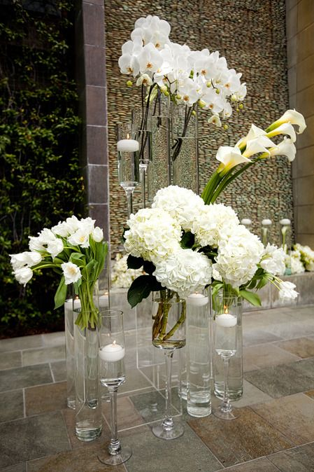 Best white images on pinterest floral arrangements