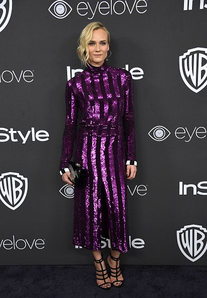 Actress Diane Kruger attends the 18th Annual PostGolden Globes Party hosted by Warner Bros Pictures and InStyle at The Beverly Hilton Hotel on...